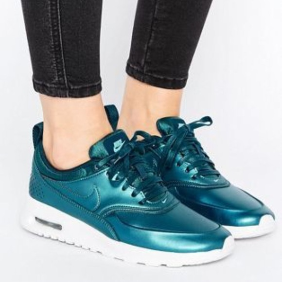 new design pick up new release NEW Nike Air Max Thea Metallic Teal Blue Sneakers NWT